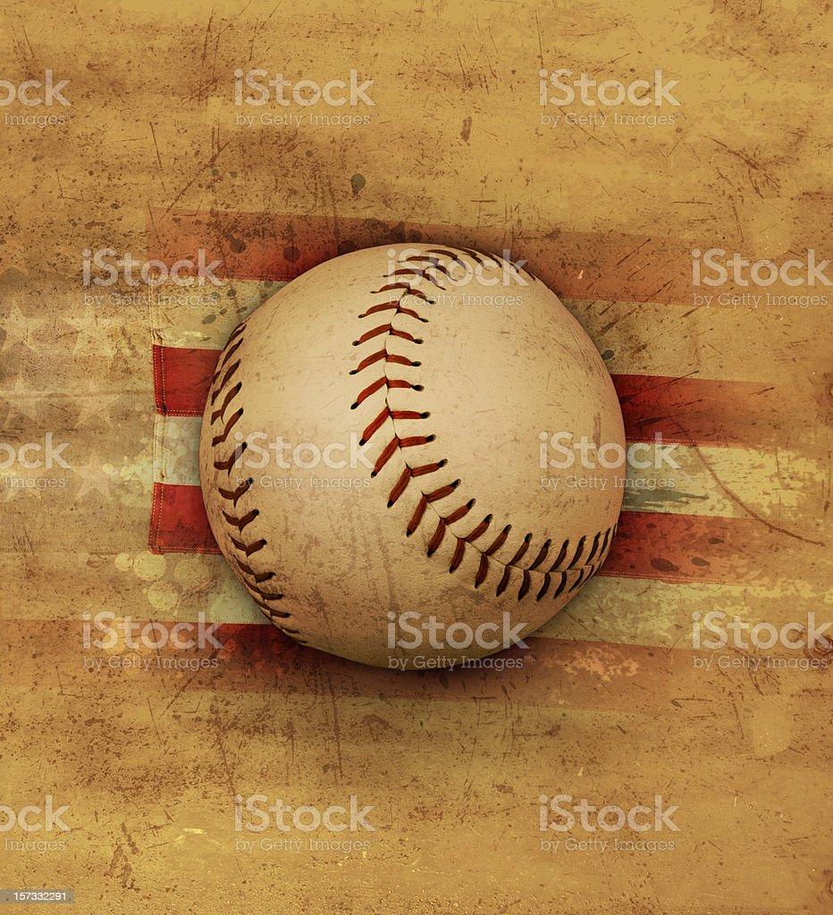 Old American baseball royalty-free stock vector art