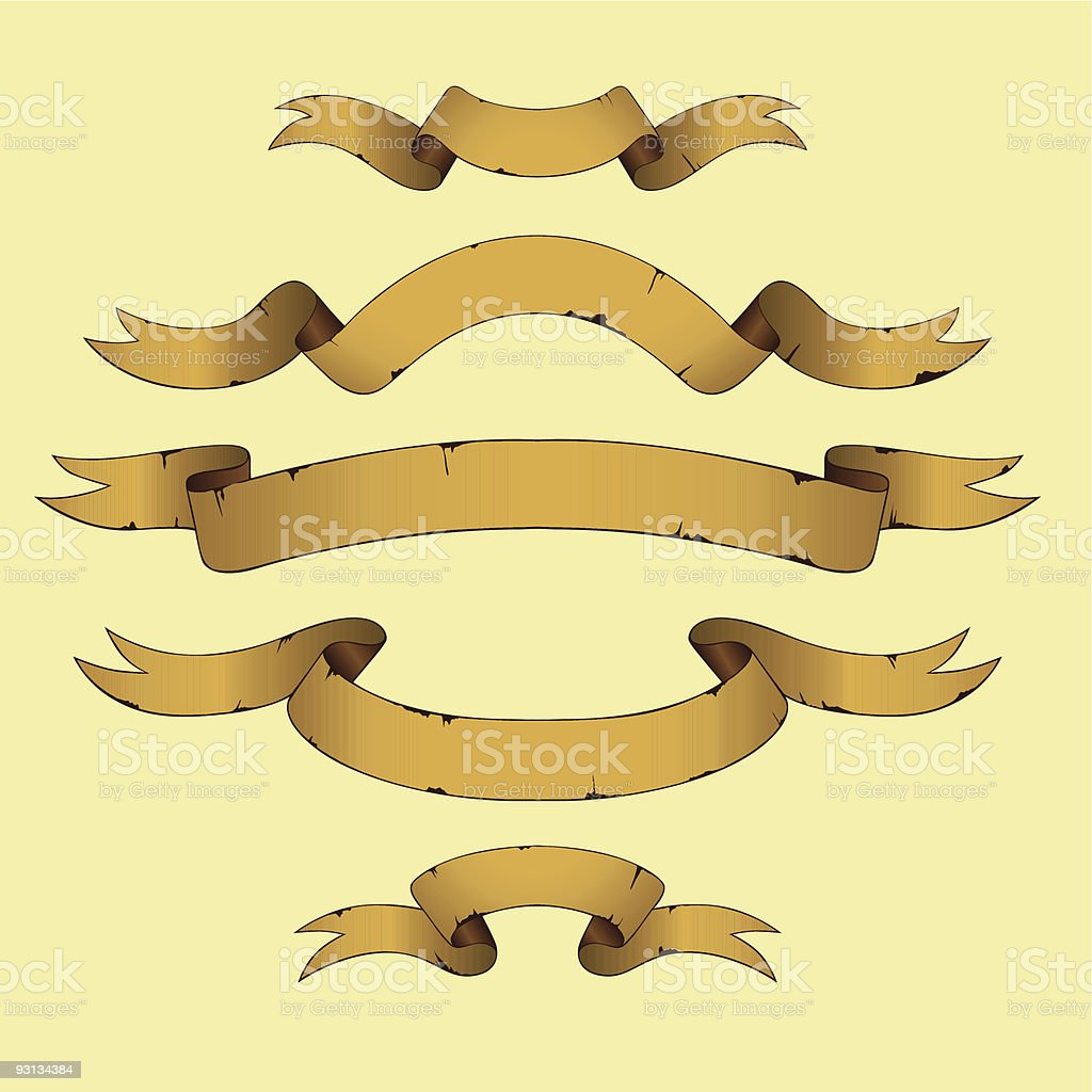 Old Banners royalty-free stock vector art