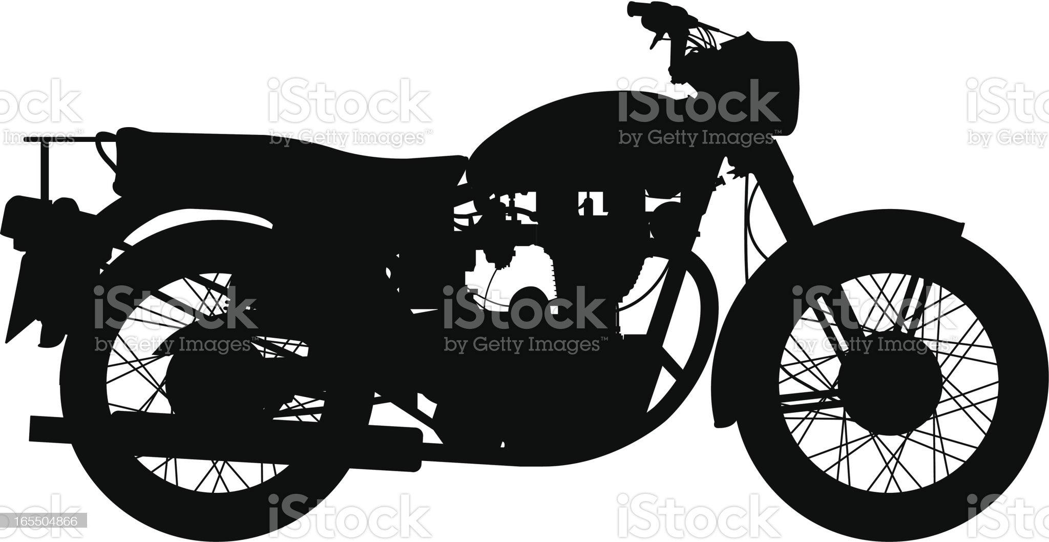 Old bike royalty-free stock vector art