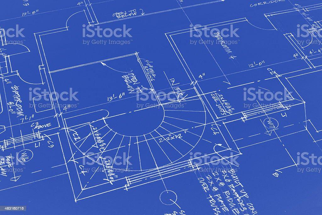 old blueprints vector art illustration