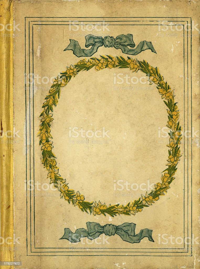 Old book cover from 1883 royalty-free stock vector art