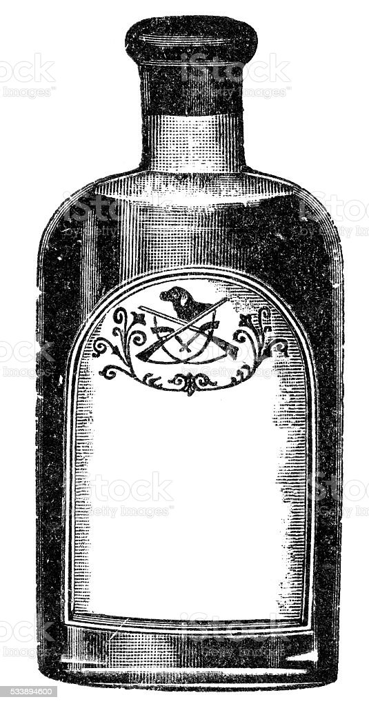 old bottle vector art illustration