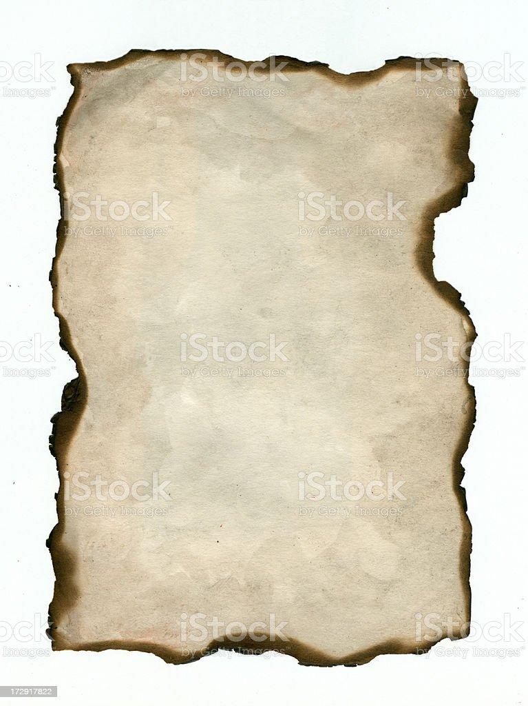 Alte verbrannt Papier Hintergrund Lizenzfreies vektor illustration