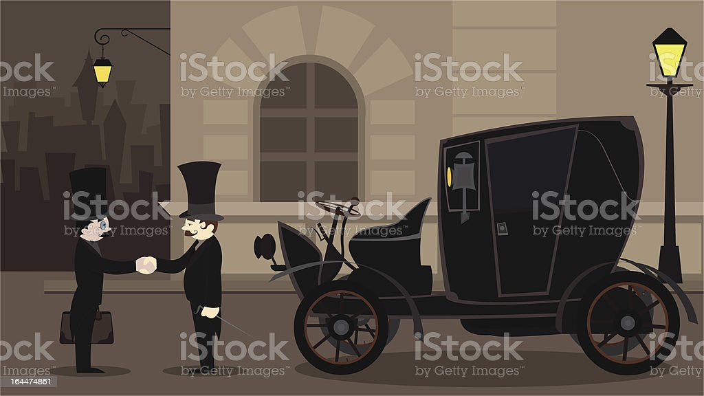 old business men royalty-free stock vector art