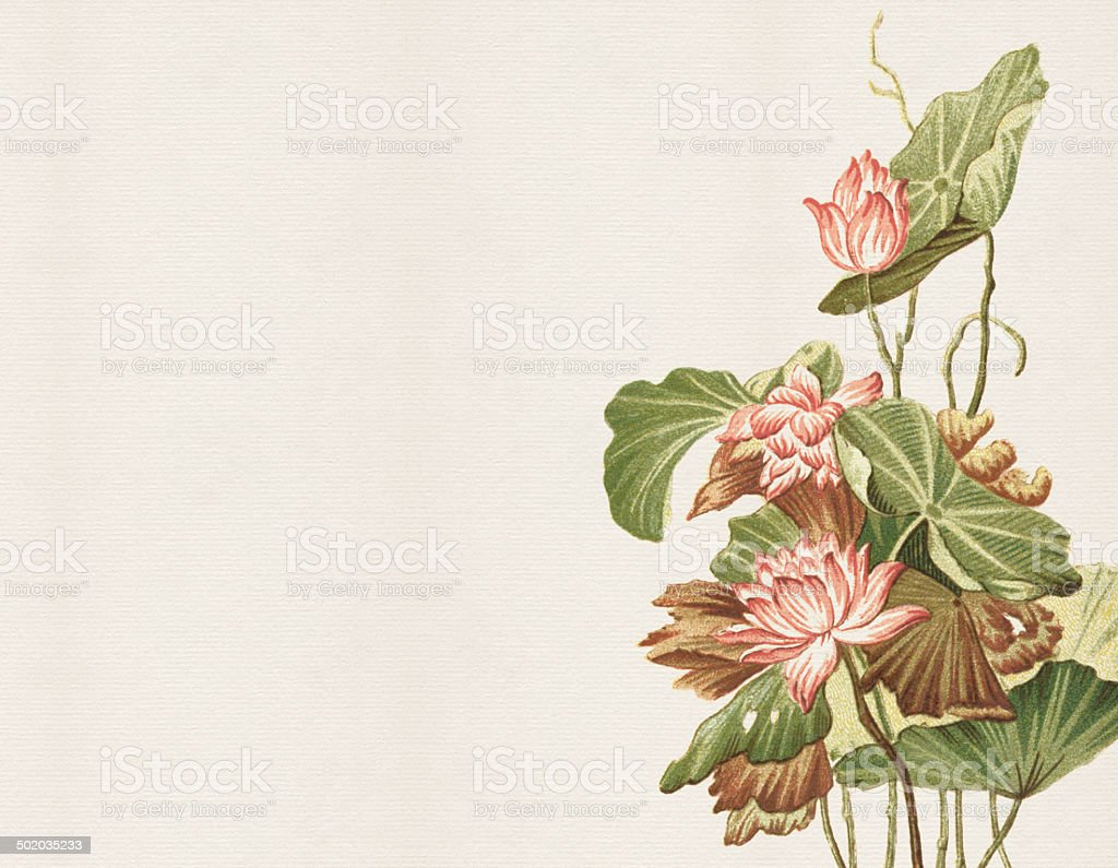 Old Chinese Painting vector art illustration