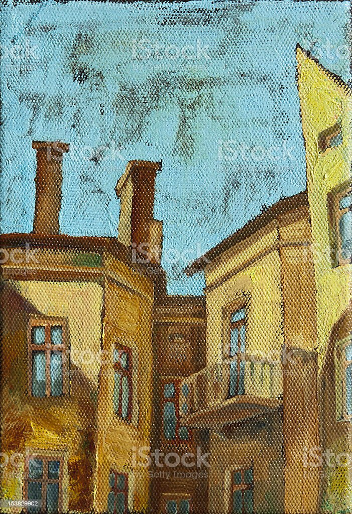 Old City Buildings royalty-free stock vector art
