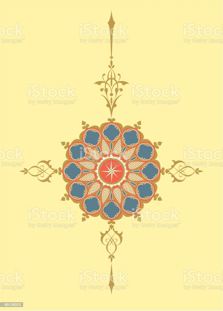 Old Compass Rose - Vector royalty-free stock vector art