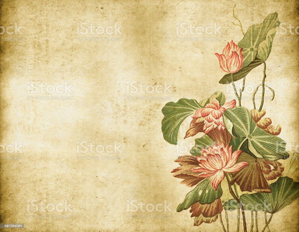 Old Dirty Chinese Ornament vector art illustration