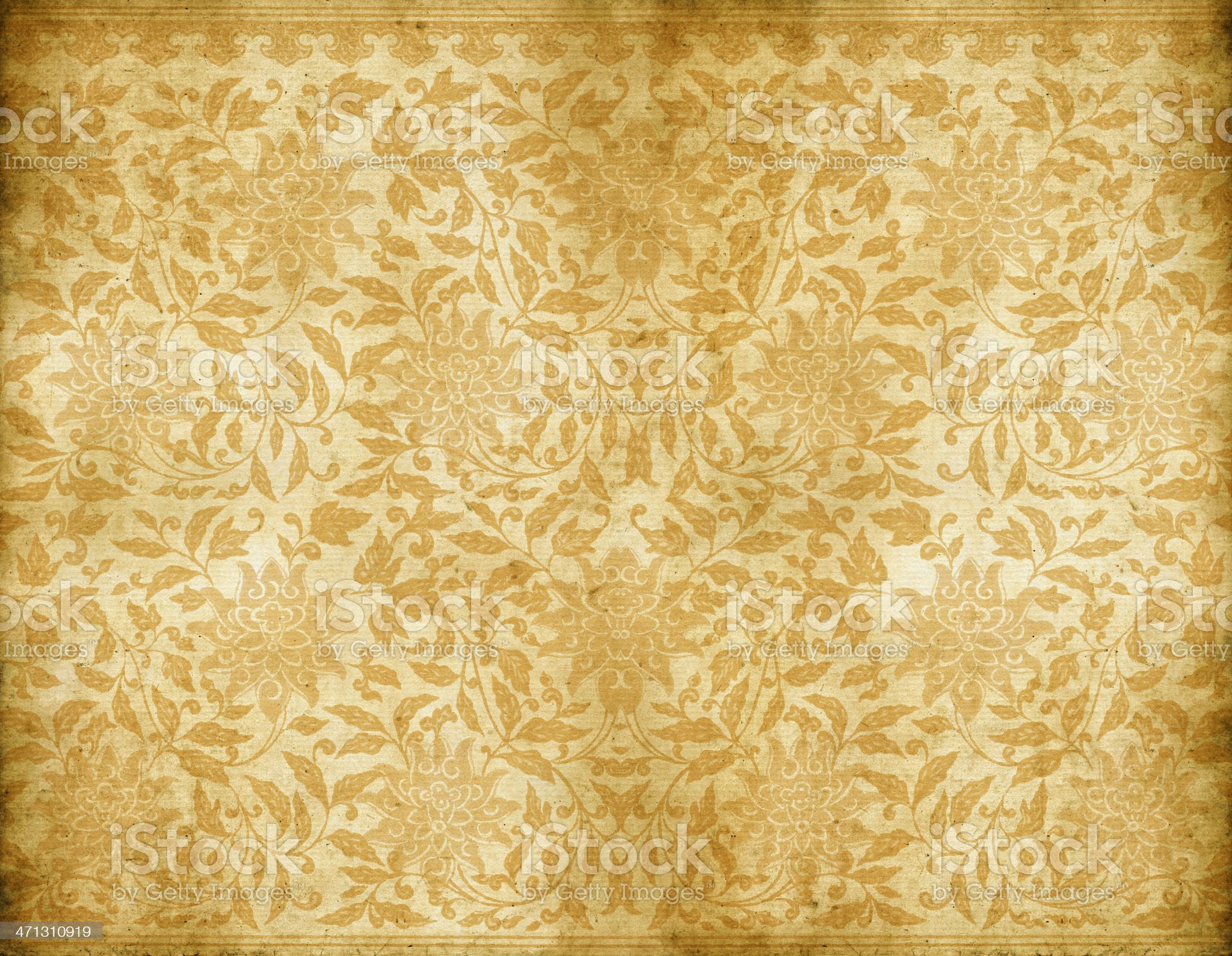Old Dirty Floral Wallpaper royalty-free stock vector art