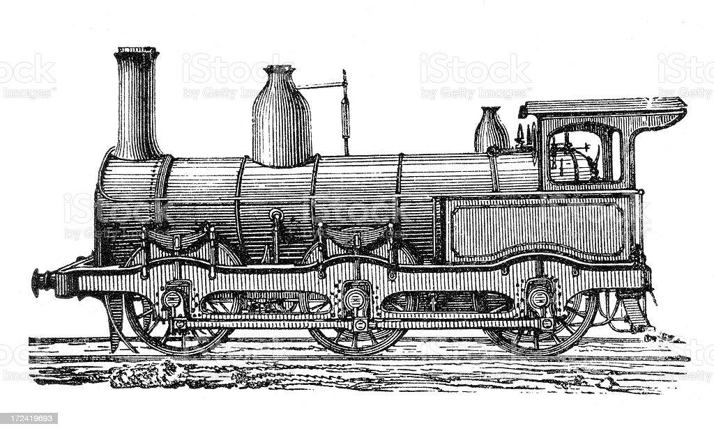 Old English Locomotive royalty-free stock vector art