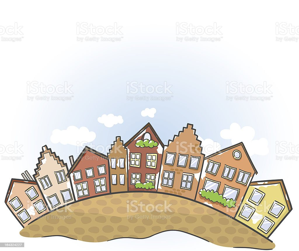 Old European town. Vector illustration. royalty-free stock vector art