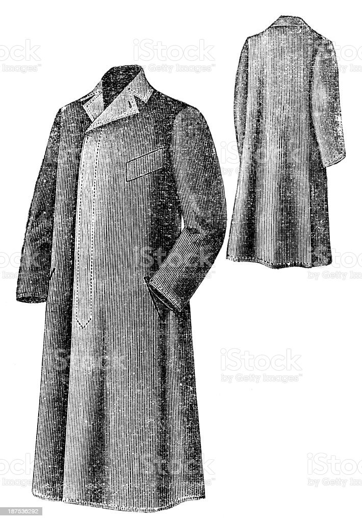 old fashion coat royalty-free stock vector art