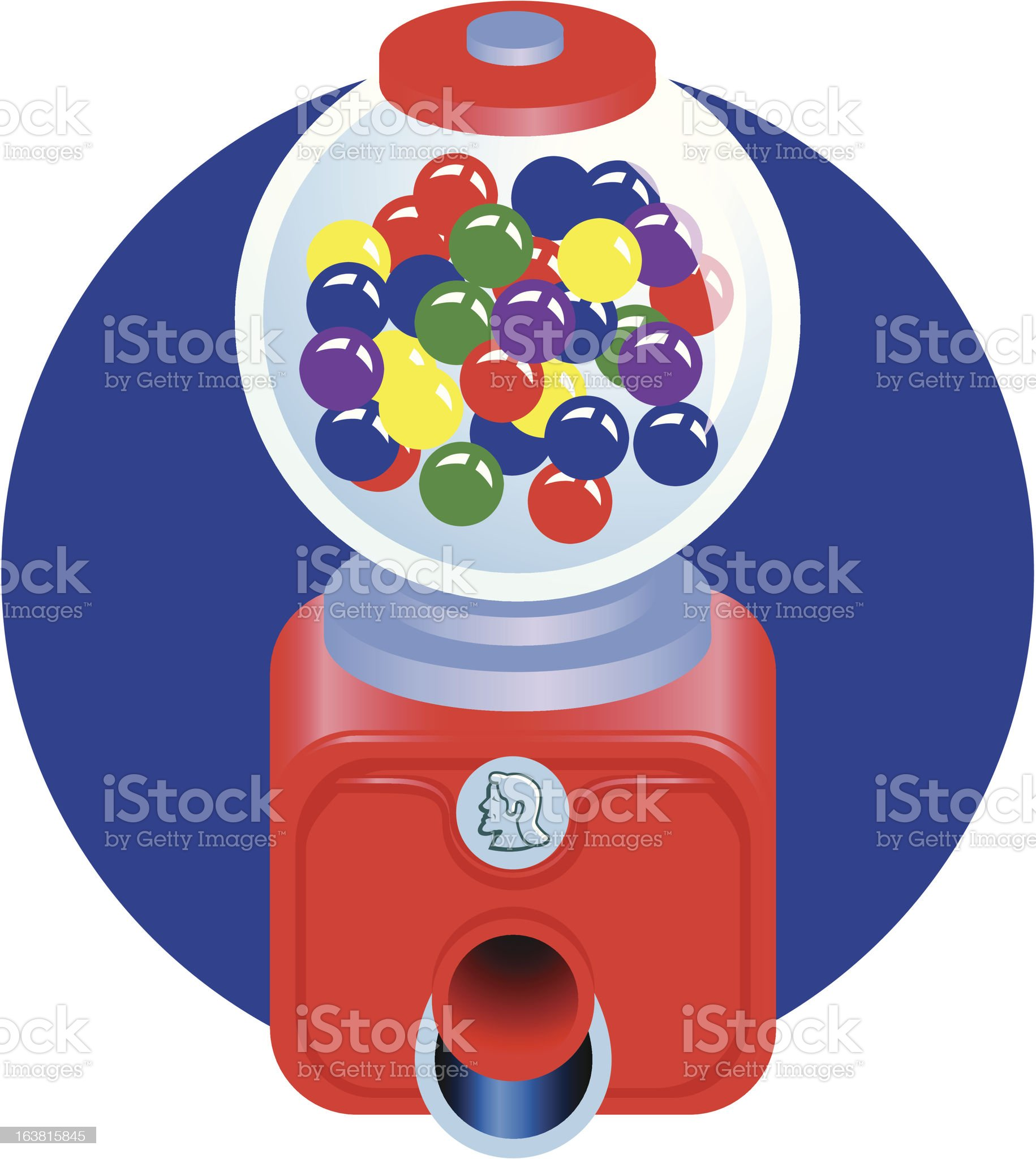 Old fashioned gum ball machine royalty-free stock vector art