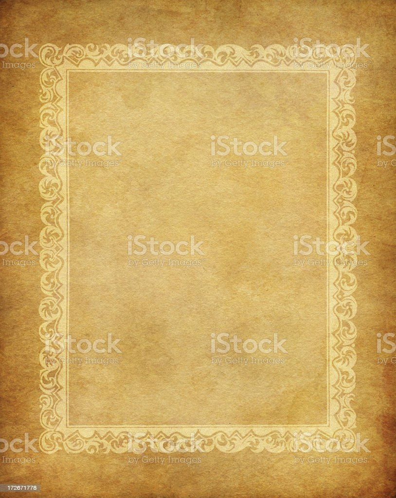 old framed paper royalty-free stock vector art