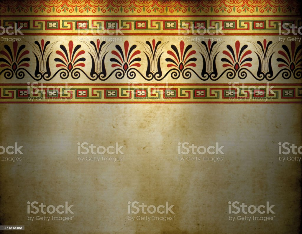 Old Greek Wallpaper royalty-free stock vector art