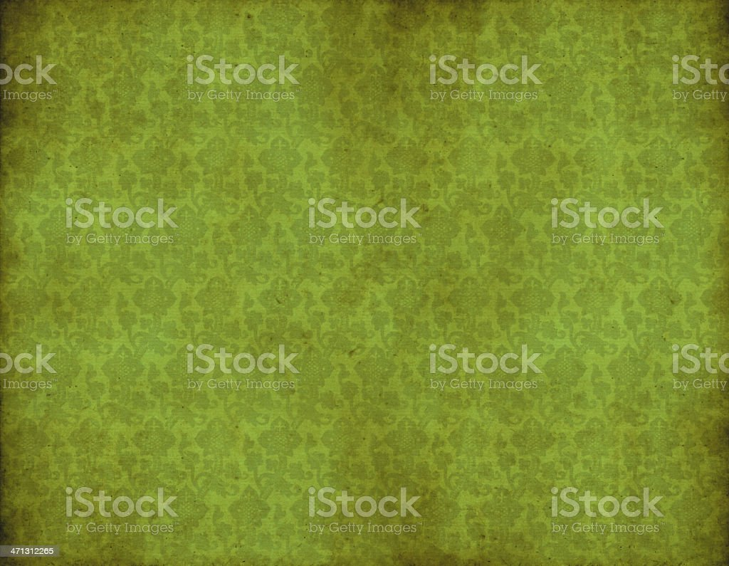 Old Green Vintage Wallpaper royalty-free stock vector art