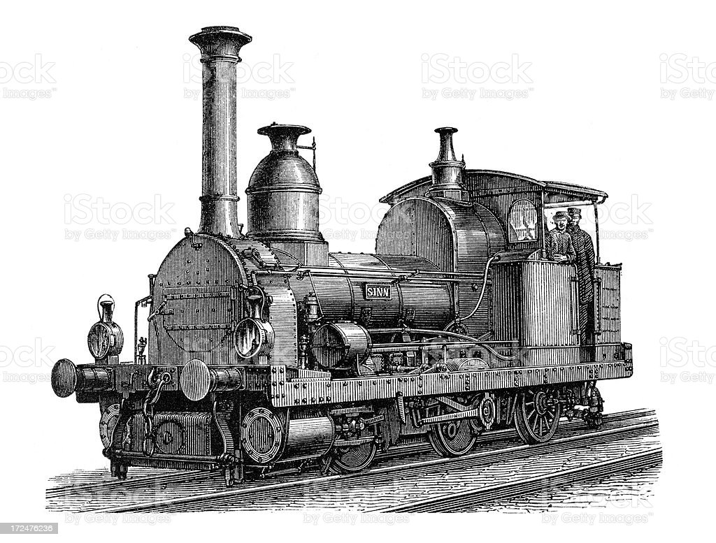 Old Liliput Locomotive royalty-free stock vector art