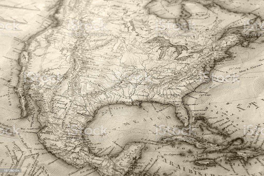 Old Map - 01 vector art illustration