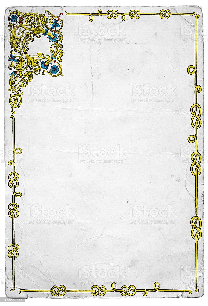 Old Medieval Illuminated Frame Design royalty-free stock vector art