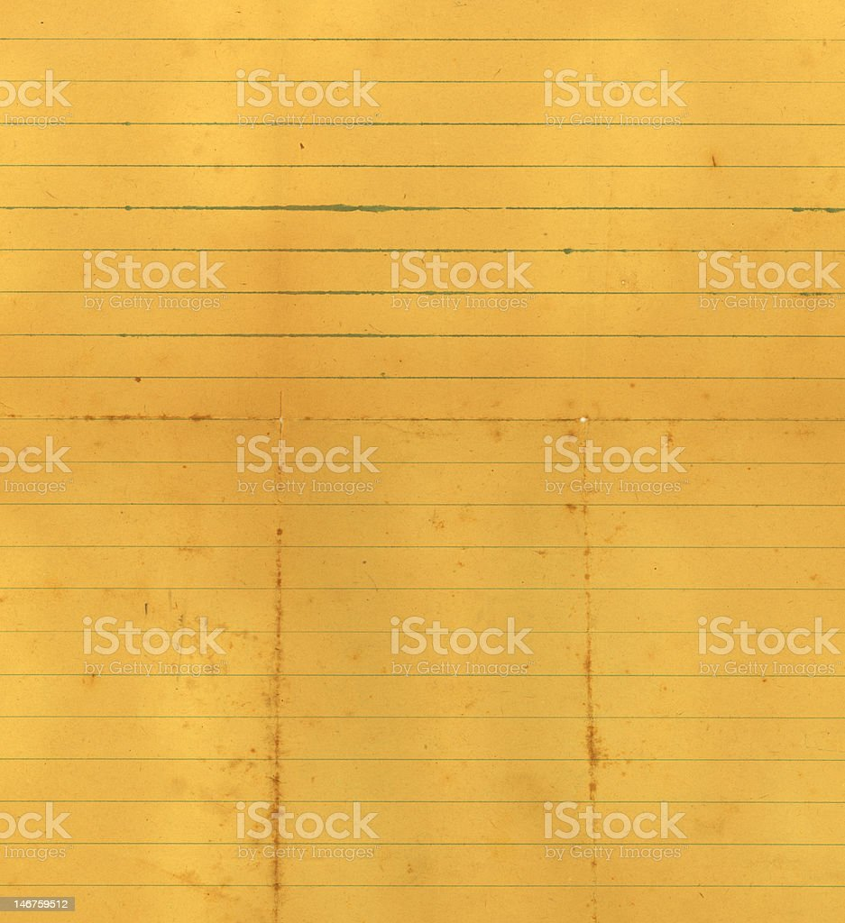 Old notebook paper royalty-free stock vector art