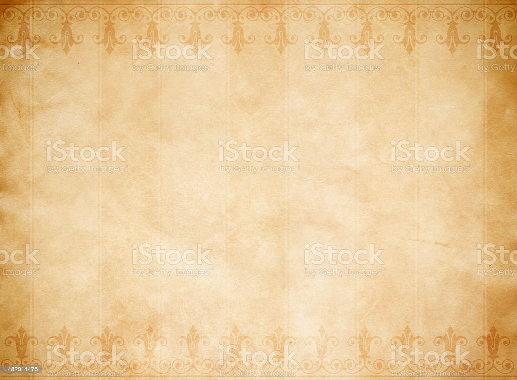 Old paper background with old-fashioned ornament.. vector art illustration