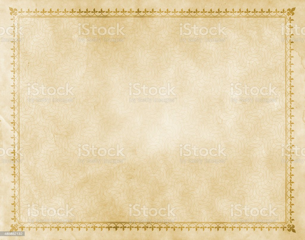 Old paper with decorative vintage border. vector art illustration