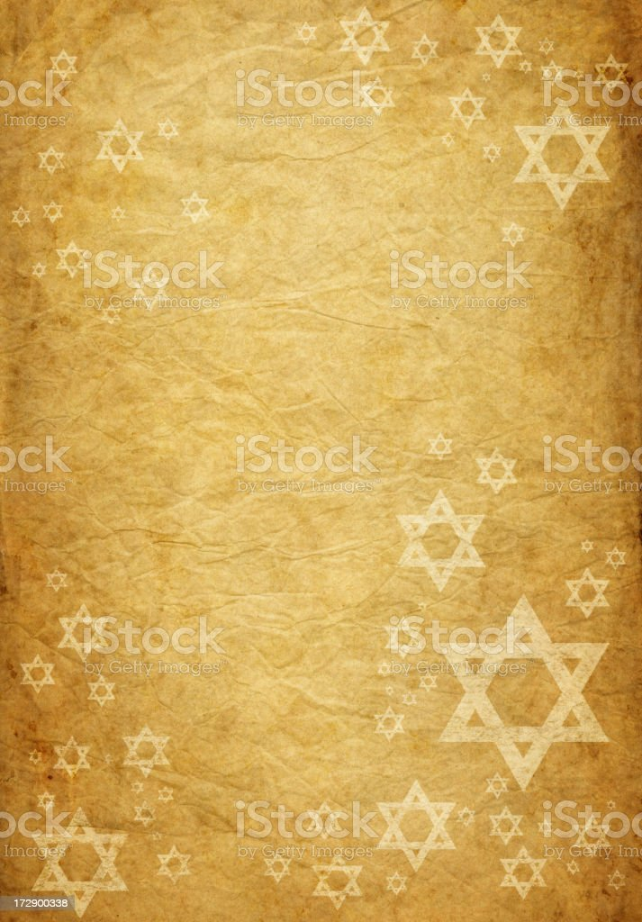 old paper with grungy david stars royalty-free stock vector art