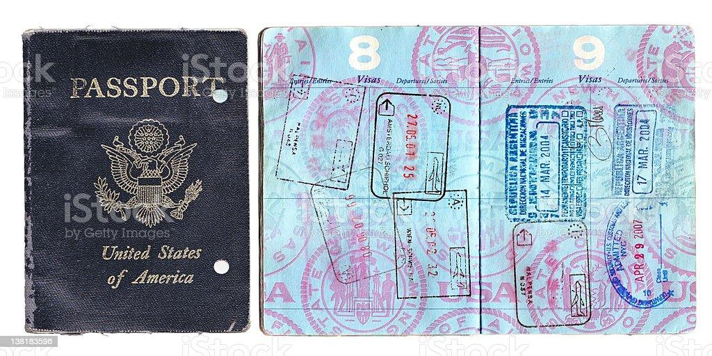 old passport vector art illustration