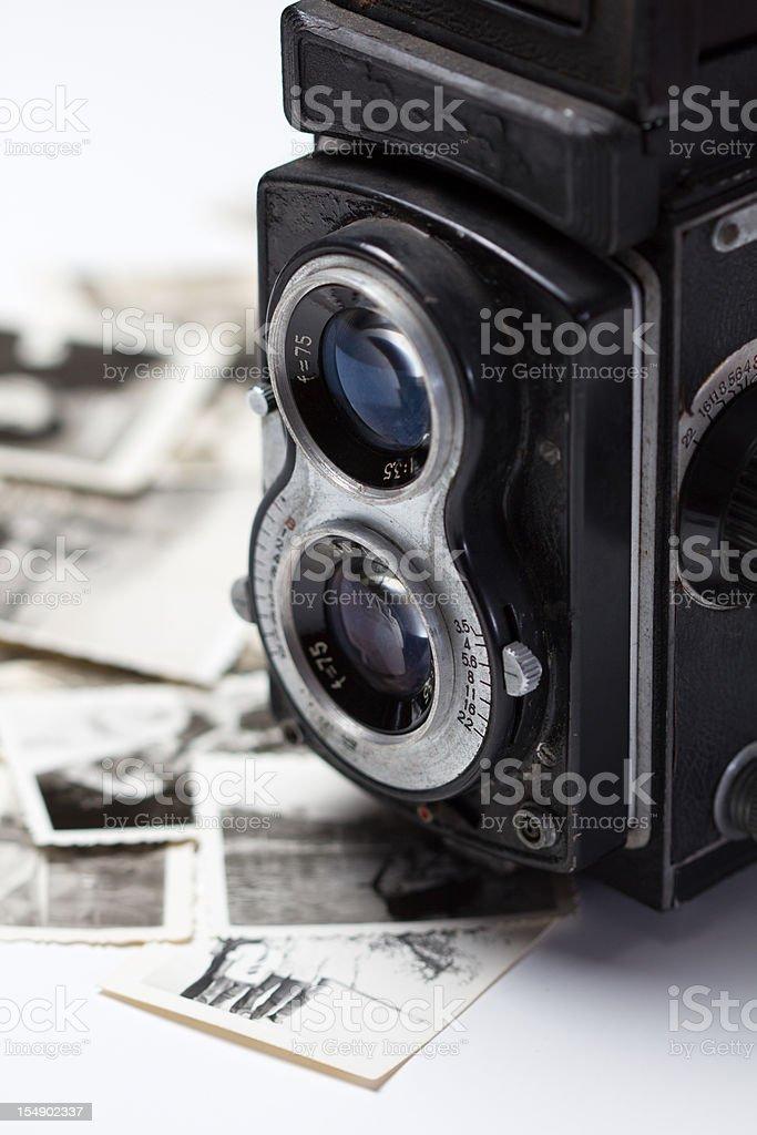 old photo and camera royalty-free stock vector art