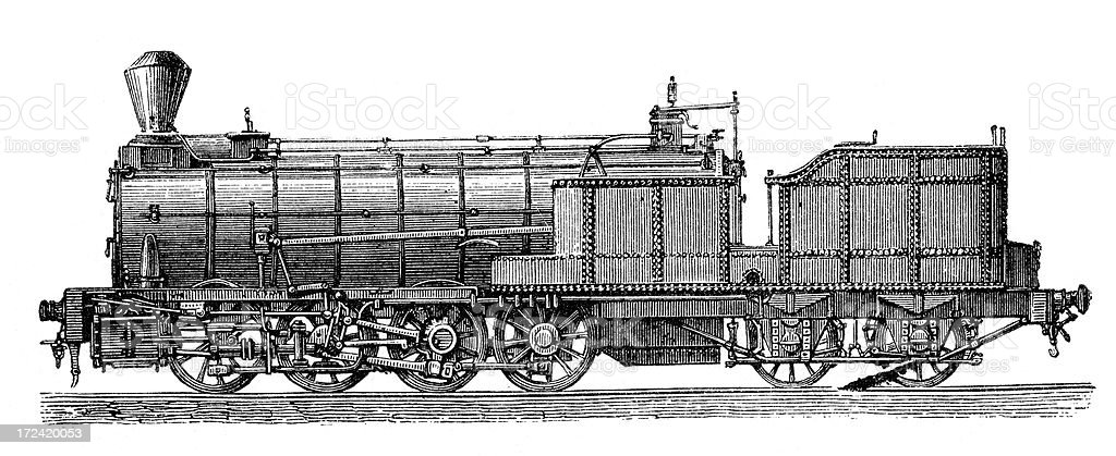 Old Semmering Railway Locomotive royalty-free stock vector art