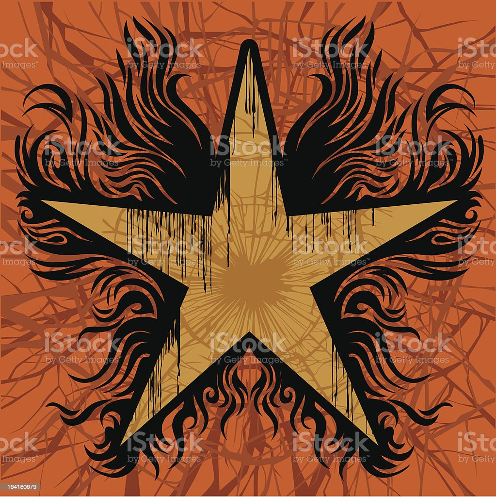 Old star royalty-free stock vector art