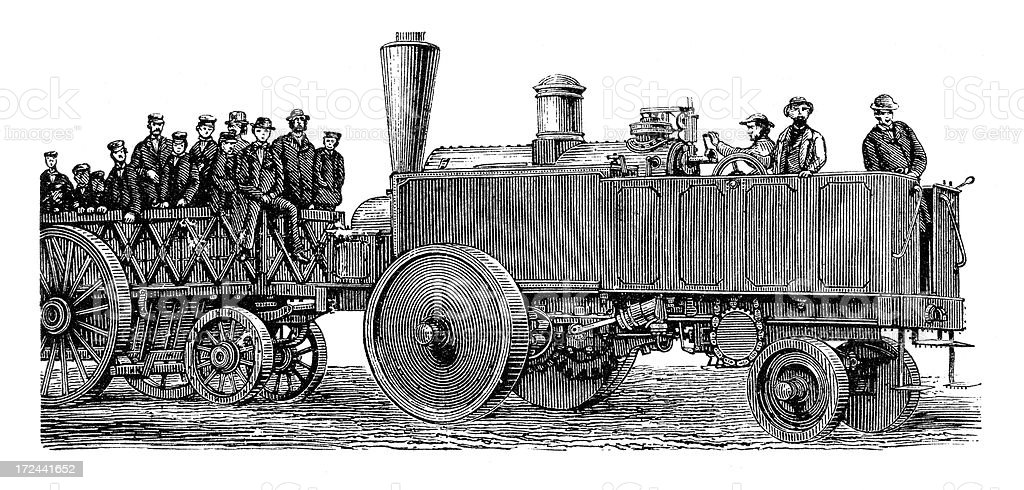 Old Steam Engine royalty-free stock vector art