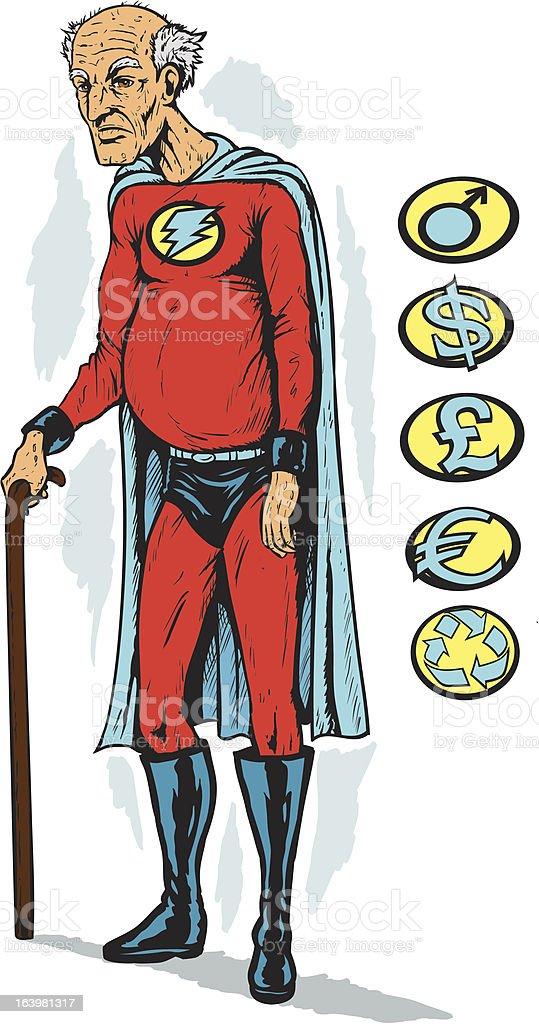 Old superhero royalty-free stock vector art