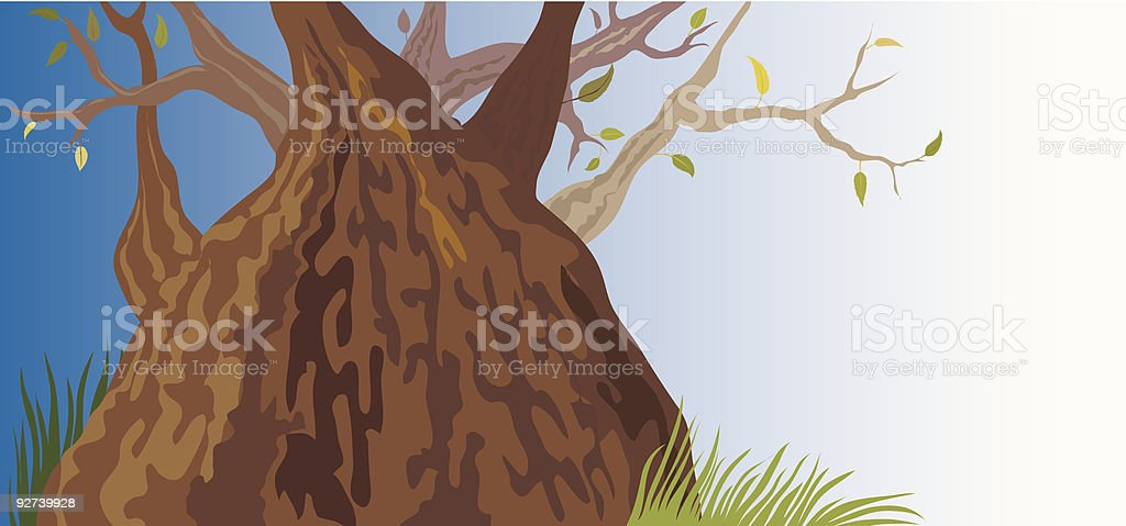 Old Tree (vector + XXL jpg in ZIP folder) royalty-free stock vector art