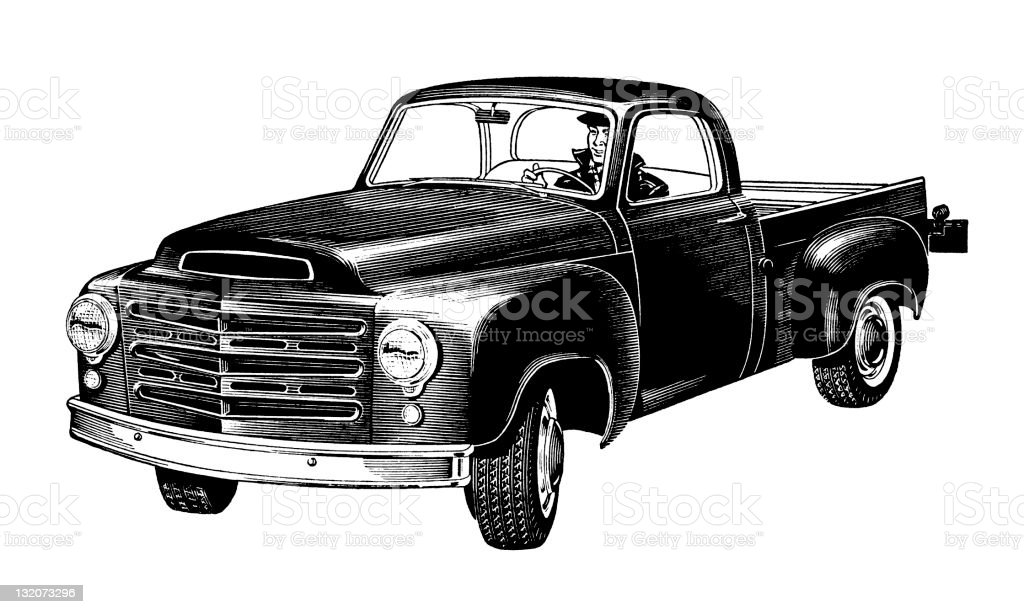 Old Truck royalty-free stock vector art