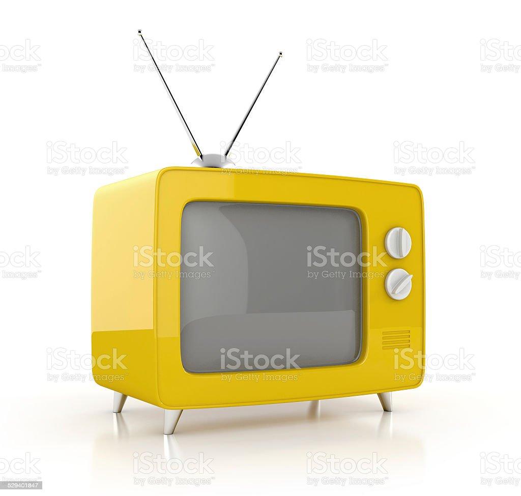 old tv. 3d illustration isolated on white background vector art illustration