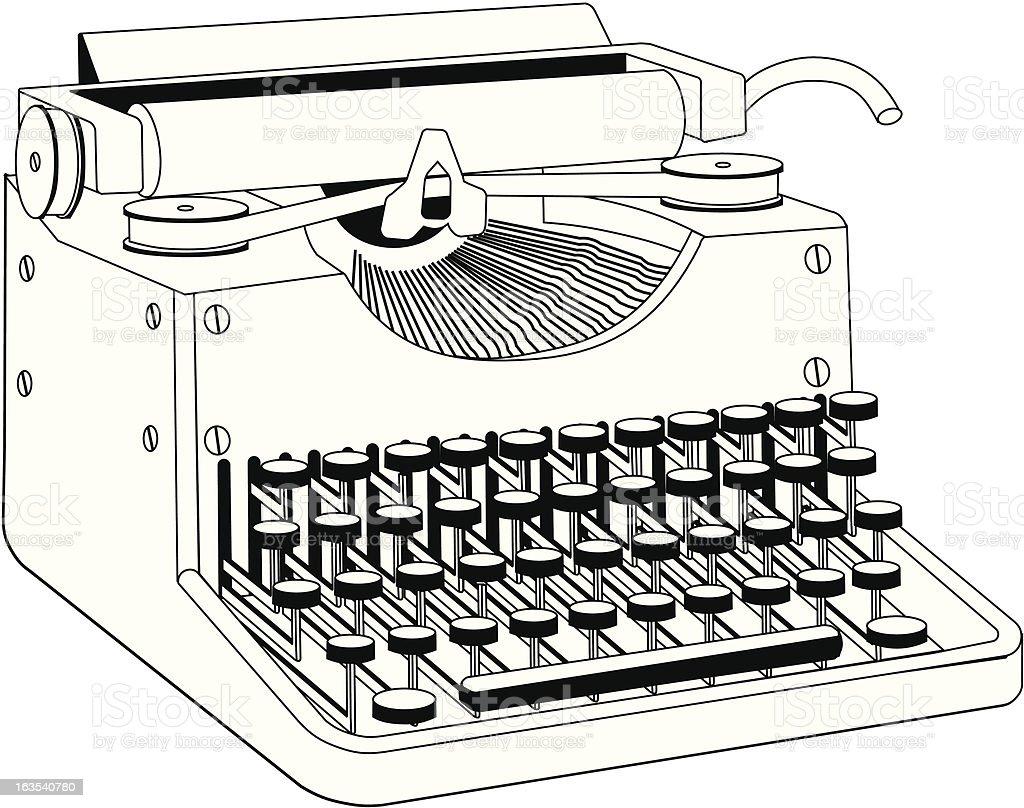 Old typewriter royalty-free stock vector art
