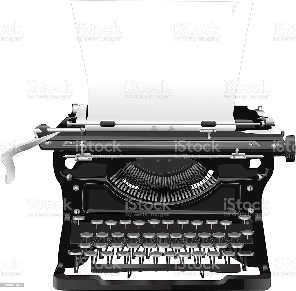 old typewriter royalty-free stock vector art