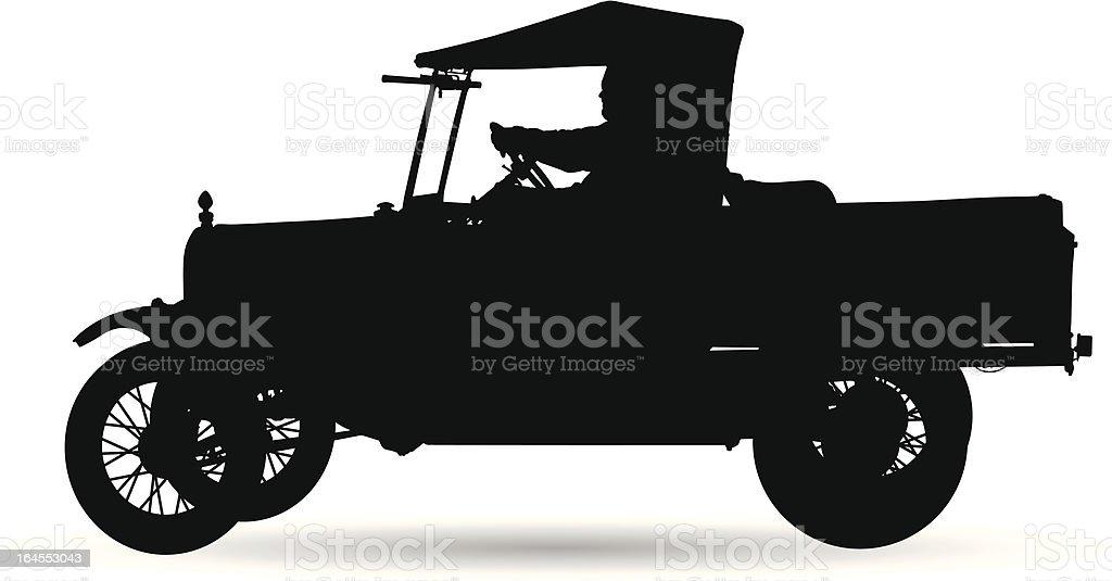 Old Vehicle Silhouette vector art illustration