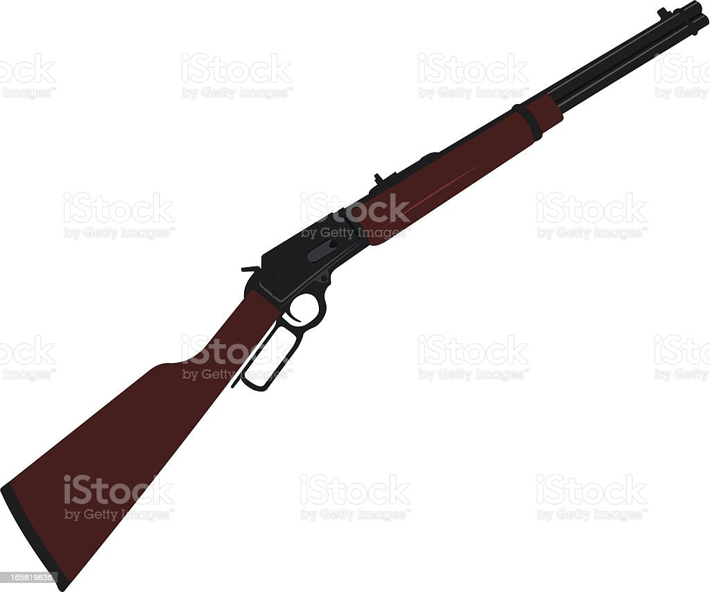 Old West Lever Rifle vector art illustration