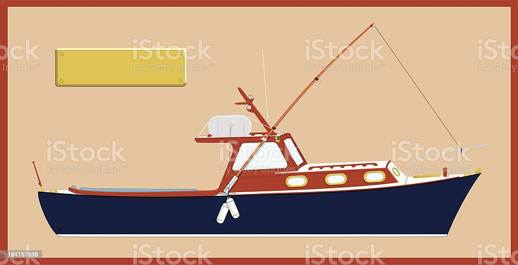 Old Yacht royalty-free stock vector art