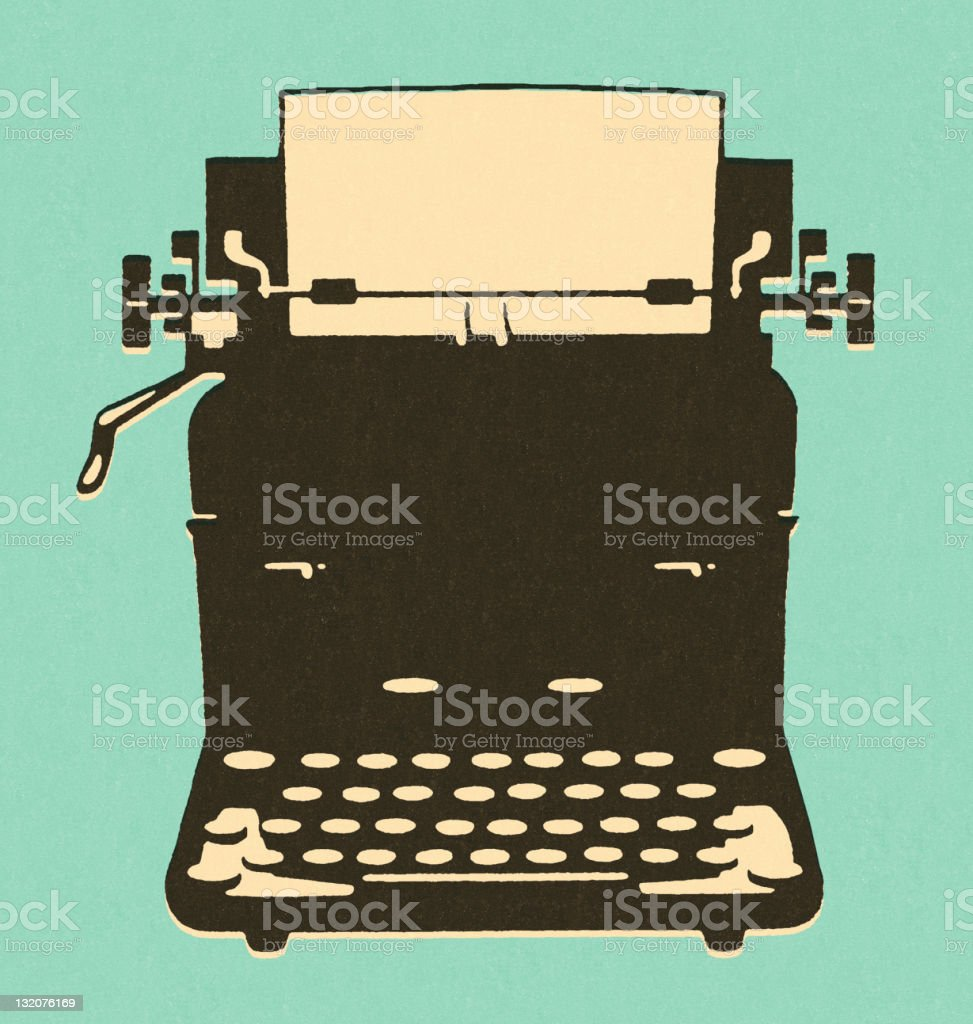 Old-Fashioned Typewriter royalty-free stock vector art
