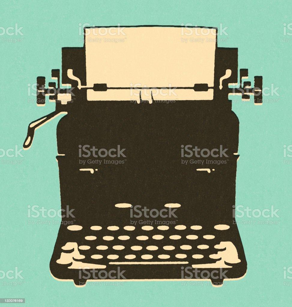 Old-Fashioned Typewriter vector art illustration