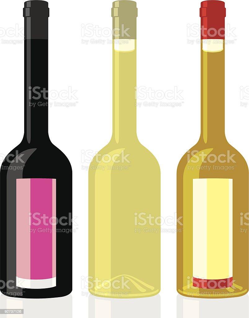 olive oil bottles vector art illustration