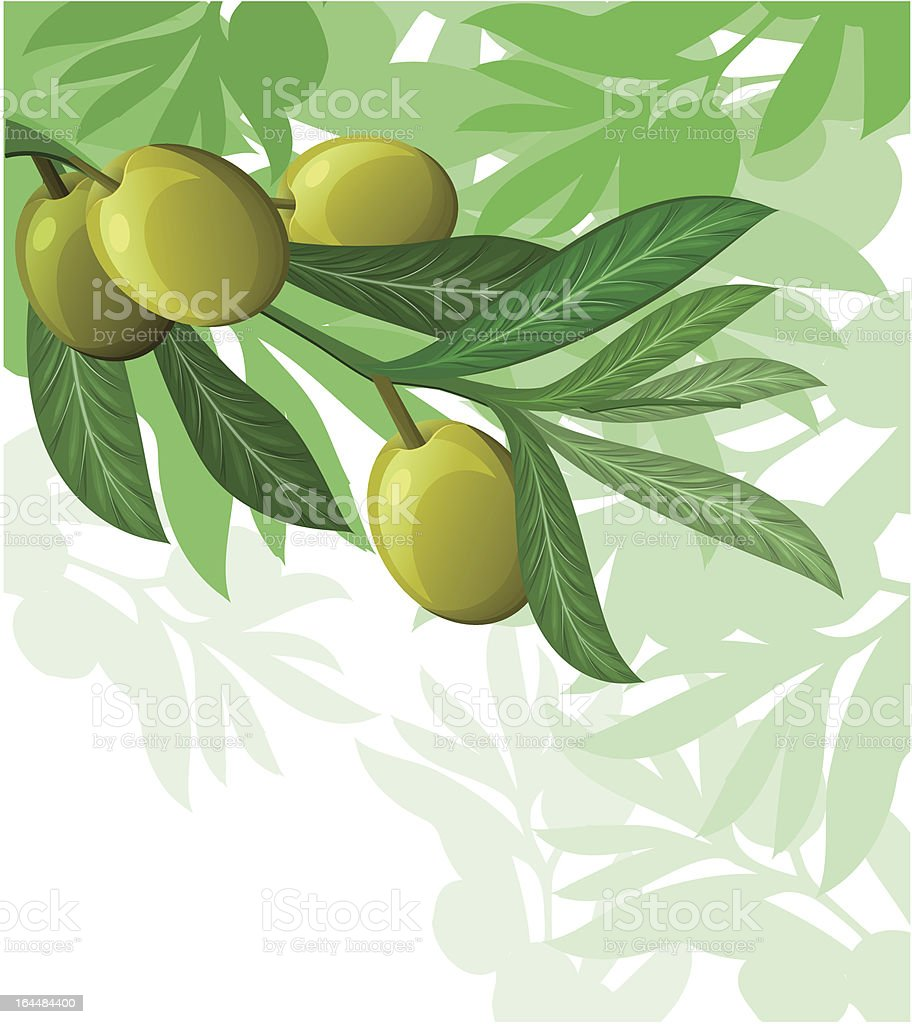 olive tree background royalty-free stock vector art