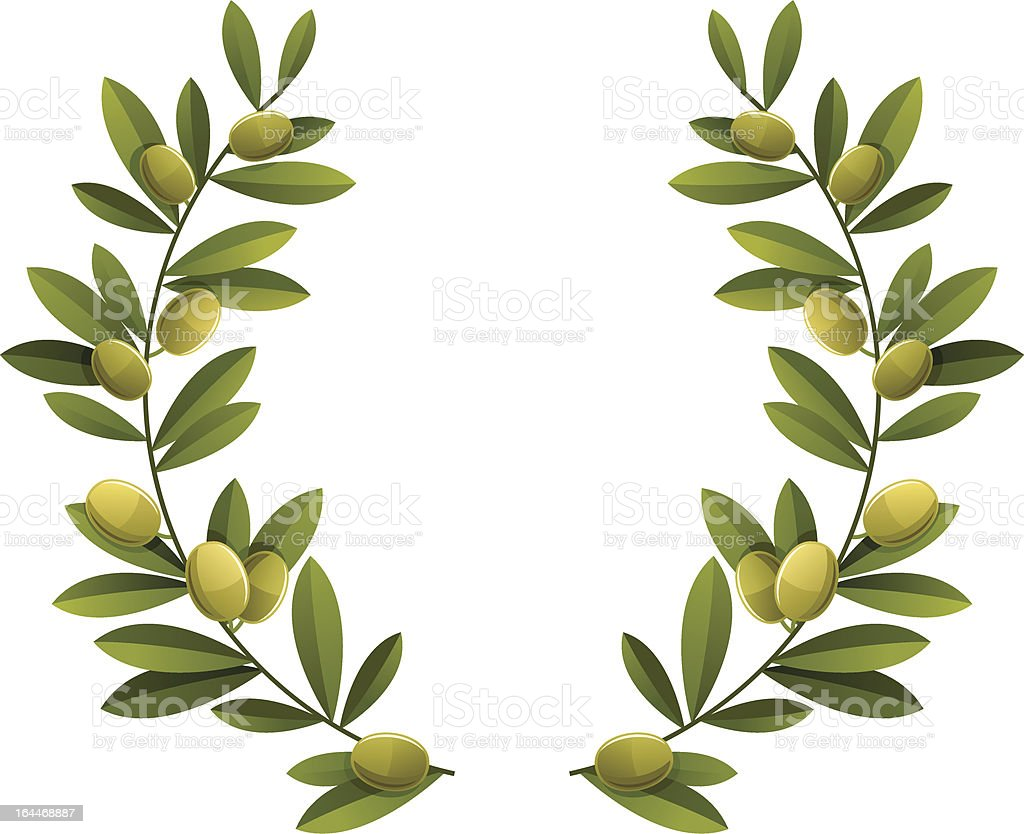 Olive wreath royalty-free stock vector art