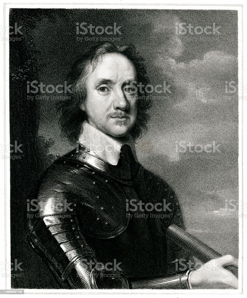 Oliver Cromwell royalty-free stock vector art