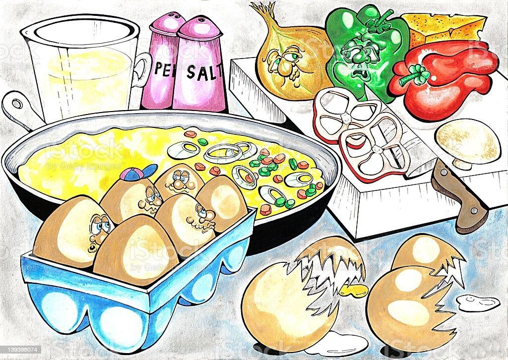 Omelette royalty-free stock vector art