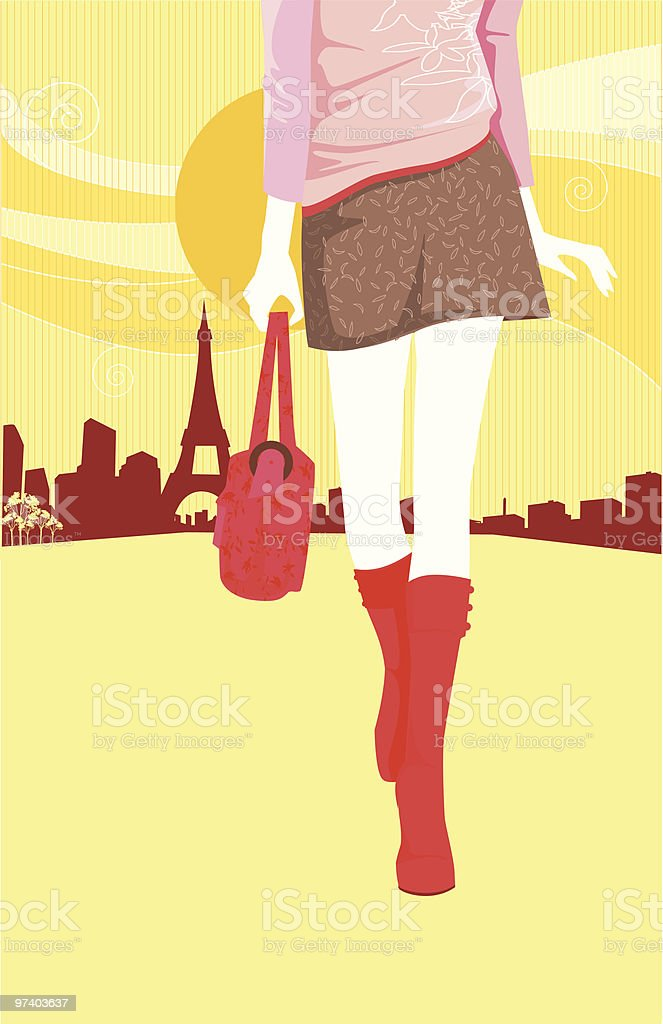 On my Way royalty-free stock vector art