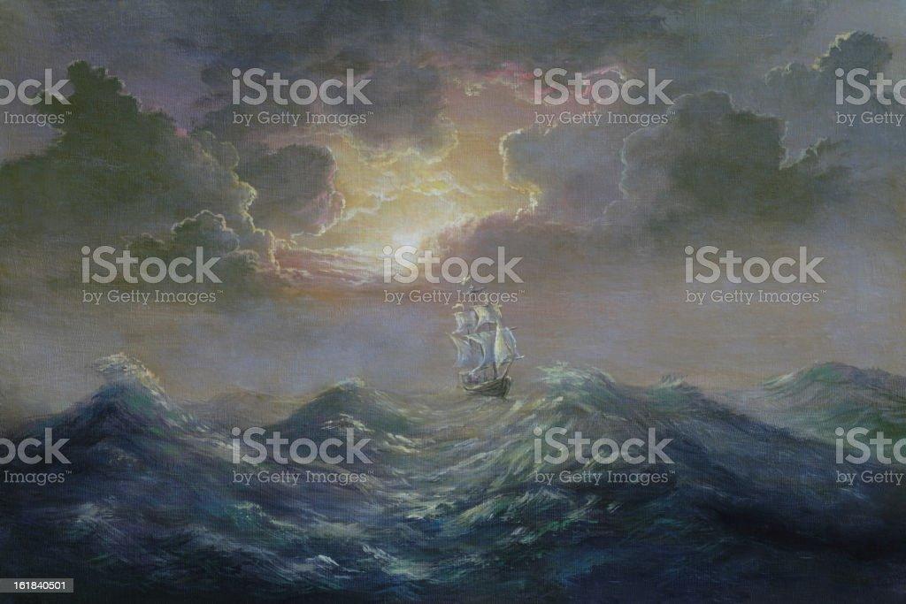 One among ocean royalty-free stock vector art
